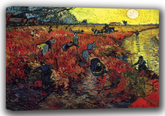 Van Gogh, Vincent: Red Vineyards at Arles. Fine Art Canvas. Sizes: A4/A3/A2/A1 (001531)